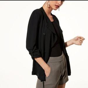 BABATON Hamelin button crepe jacket sz:6 | Aritzia